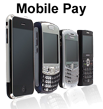 "Image of cell phones with text ""Mobile Pay"""