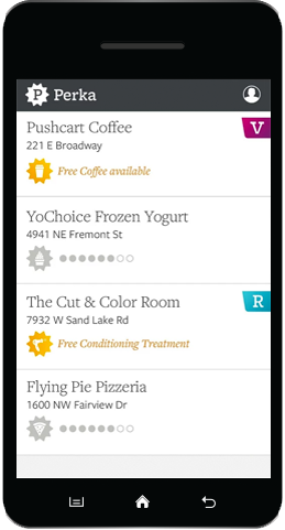 Image of Clover Rewards on a cell phone
